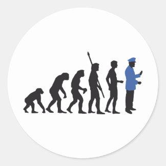 Evolution uniform 2C Classic Round Sticker