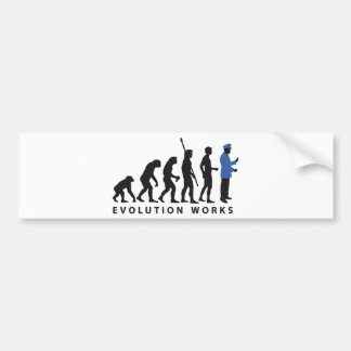Evolution uniform bumper sticker