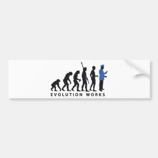 Evolution uniform bumper sticker