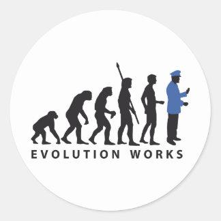 Evolution uniform classic round sticker