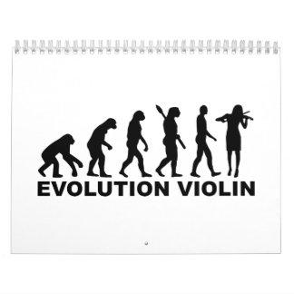 Evolution violin calendar