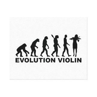Evolution violin gallery wrap canvas