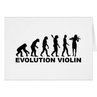 Evolution violin greeting cards