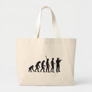 evolution violin large tote bag