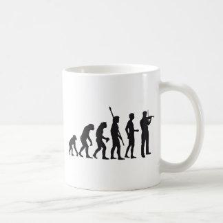 evolution violin classic white coffee mug
