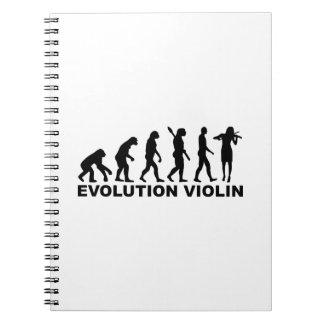 Evolution violin notebooks