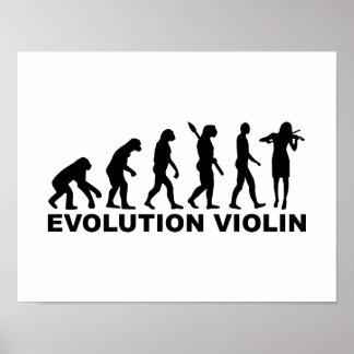 Evolution violin posters