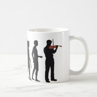 evolution violin taza básica blanca