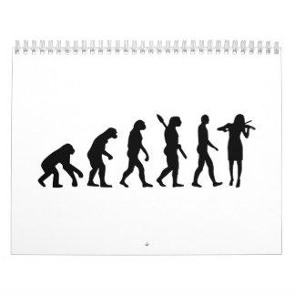 Evolution Violinist Calendar
