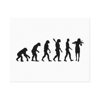 Evolution Violinist Canvas Print
