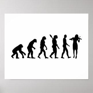 Evolution Violinist Poster