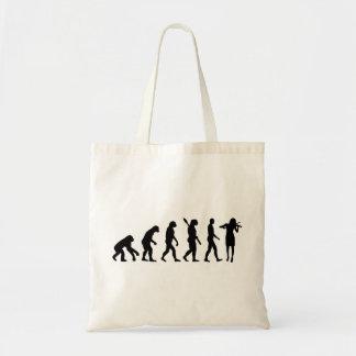 Evolution Violinist Tote Bag