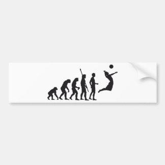 evolution volleyball bumper sticker
