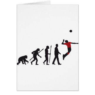 evolution volleyball more player greeting cards