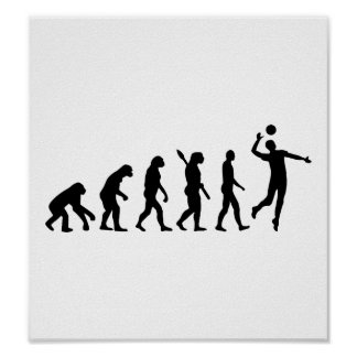 Evolution Volleyball player Poster
