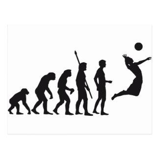 evolution volleyball postcard