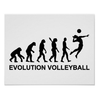 Evolution Volleyball Poster