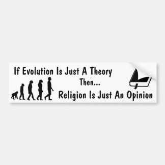 Evolution vs Religion Bumper Sticker Car Bumper Sticker
