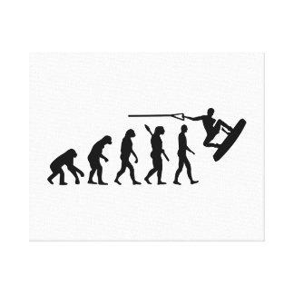 Evolution Wakeboarding Canvas Print