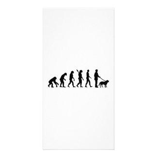 Evolution Walk the dog Photo Card Template
