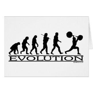 Evolution - Weight Lifter Cards