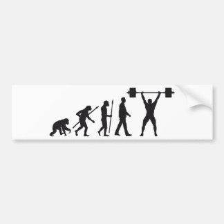 evolution weight more lifter bumper sticker