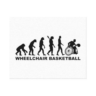 Evolution wheelchair basketball canvas print