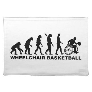 Evolution wheelchair basketball cloth placemat