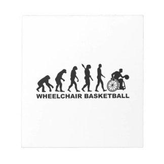 Evolution wheelchair basketball notepad