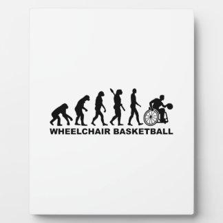 Evolution wheelchair basketball plaque