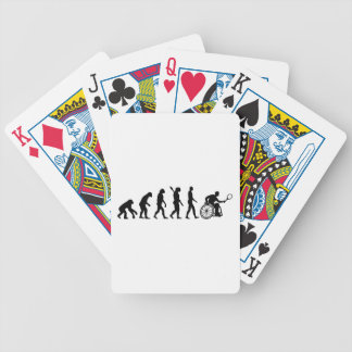 Evolution wheelchair tennis bicycle playing cards