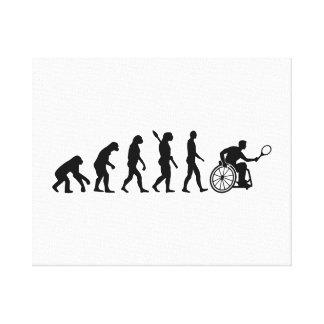 Evolution wheelchair tennis canvas print
