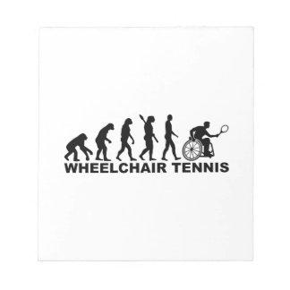 Evolution wheelchair tennis notepad