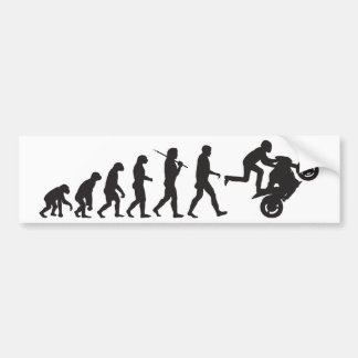 Evolution - Wheelie Bumper Sticker