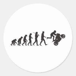 Evolution - Wheelie Classic Round Sticker