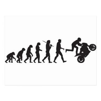 Evolution - Wheelie Postcard