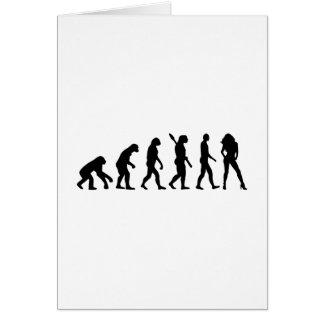 Evolution woman card