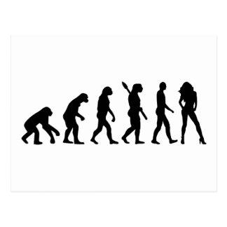 Evolution woman postcard