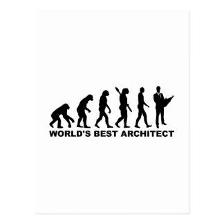 Evolution world's best Architect Postcard