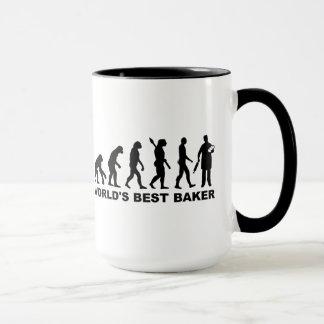 Evolution World's Best Baker Mug
