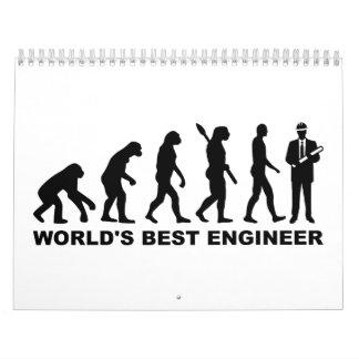 Evolution World's Best Engineer Calendar