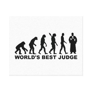 Evolution world's best judge canvas print