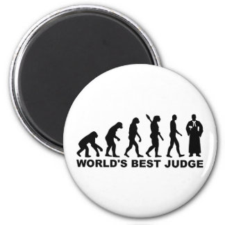 Evolution world's best judge refrigerator magnet