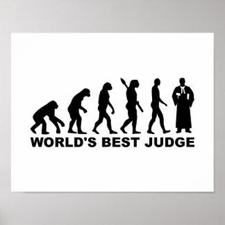 Evolution world's best judge print