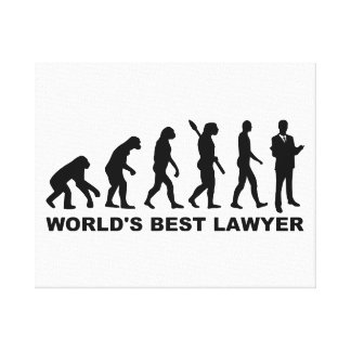 Evolution world's best lawyer gallery wrapped canvas