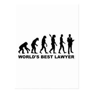 Evolution world's best lawyer postcard