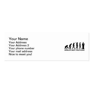 Evolution World's Best Politician Business Card