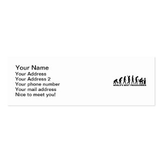 Evolution world's best Programmer Double-Sided Mini Business Cards (Pack Of 20)