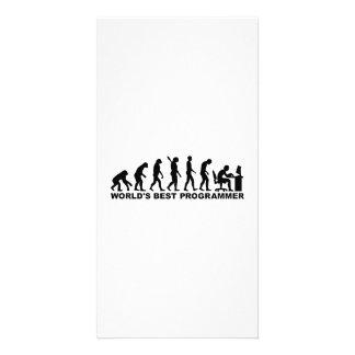 Evolution world's best Programmer Custom Photo Card