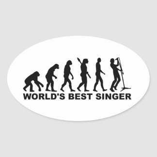 Evolution World's Best Singer Sticker